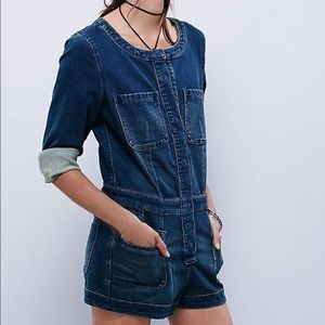 Brand New Free People Fiona Shortalls